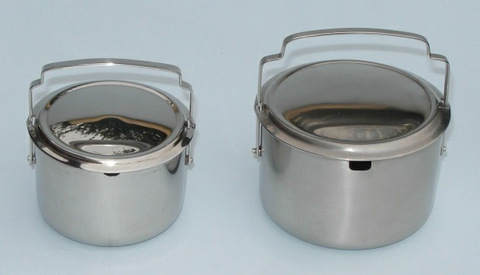 Sliding lid sugar bowl duo